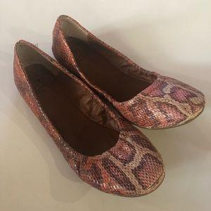 Shoes - Lucky brand flats snakeskin patter women size 9